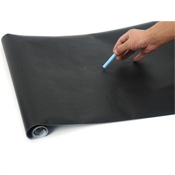 加厚哑光pvc纯色自粘型黑板墙纸 培训黑板 涂鸦板(黑色板)