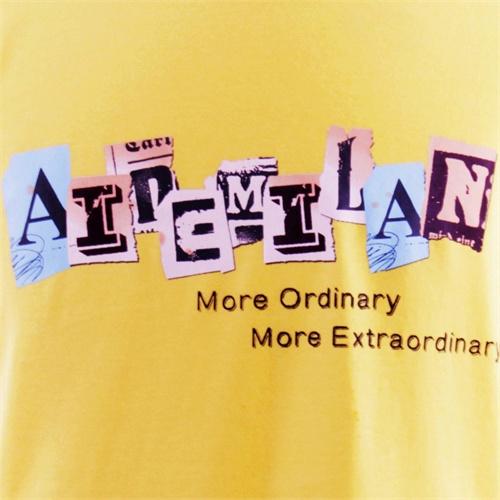 【艾得米兰】个性logo涂鸦长袖t恤男士圆领全棉英文字家居服wm002个性