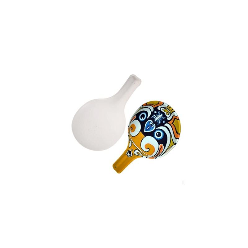 diy美术彩绘 手绘脸谱 白色环保纸浆面具 马勺水瓢填色 手工制作
