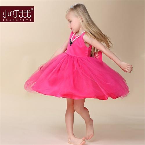 女童连衣裙夏装童装儿童蓬蓬公主裙纱裙六一儿童舞蹈