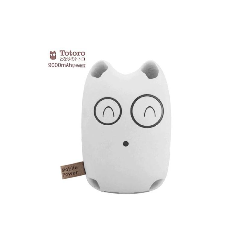 万能外接电池 便携充电器 续航电池【赠礼包5件套】 _龙猫-白色萌萌