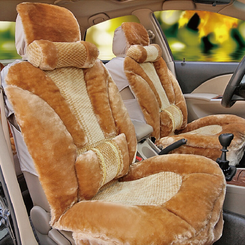 【包邮】2014新款冬季毛绒汽车坐垫加厚保暖豹纹可爱毛垫车坐垫冬季