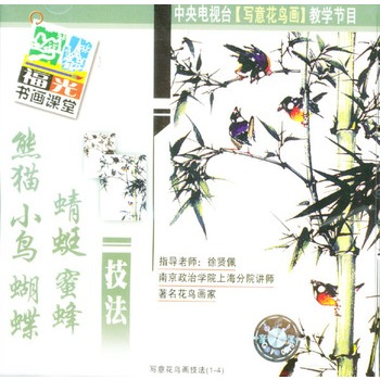 熊猫 小鸟 蝴蝶 蜻蜓 蜜蜂技法:中央电视台《写意花鸟画》教学节目(4)