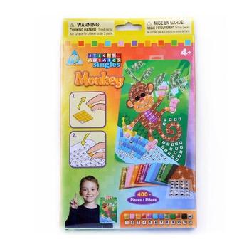 欧宝eva手工制作 玩具堡 马赛克拼图 玩具堡diy儿童玩具eva贴画_猴子