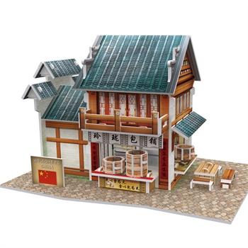 建筑拼装模型房子diy