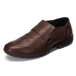 Maigao麦高男士皮鞋  新款时尚套脚头层牛皮商务休闲鞋M0623236-2