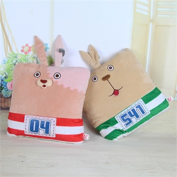 逃亡兔娃娃抱枕创意