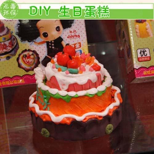 彩泥手工制作蛋糕简单