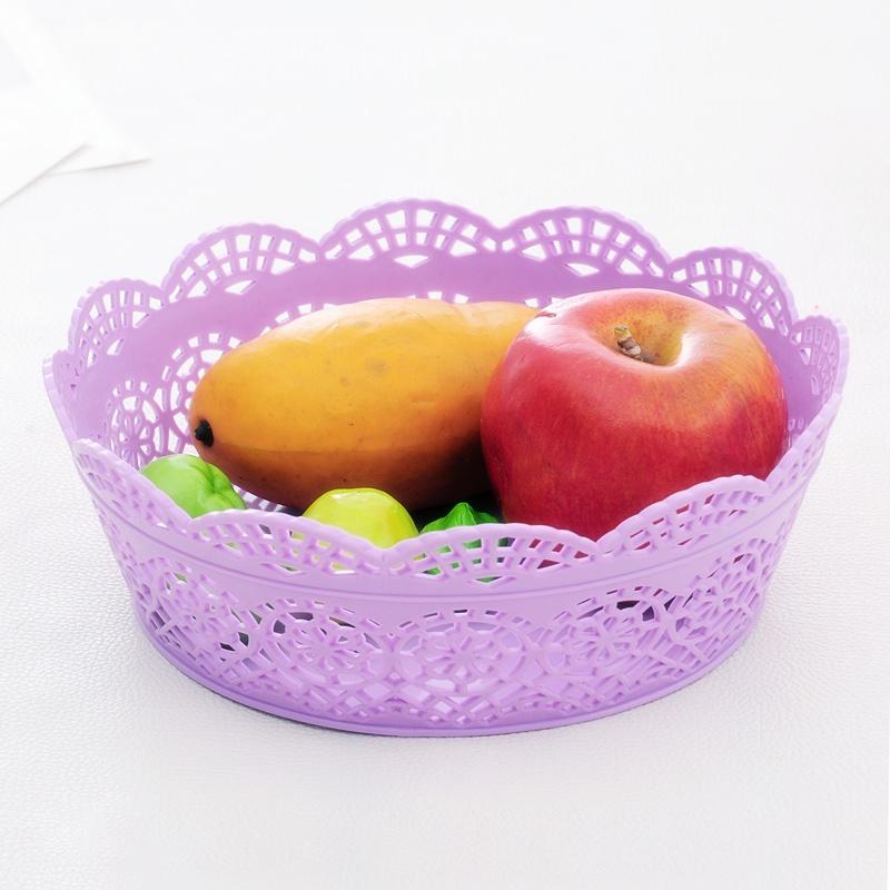 【一口米整理箱收纳盒】欧式圆形镂空花边收纳篮