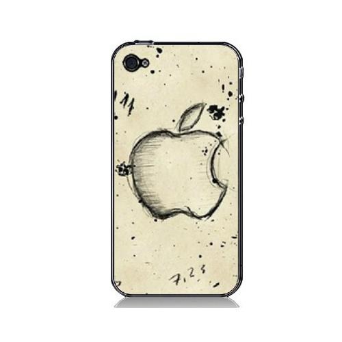 手机工坊iphone4/4s手机彩绘保护套 可爱背壳 防刮-【赠按键贴三件套