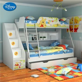 迪士尼儿童家具维尼系列高低床