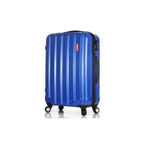 飞机万向轮 旅行李箱子 托运箱tsa海关锁 耐压abs pc材质 电脑袋_蓝色