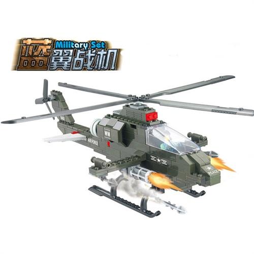 乐高式拼插积木沃马j5662蓝翼战机军事玩具拼装飞机模型玩具