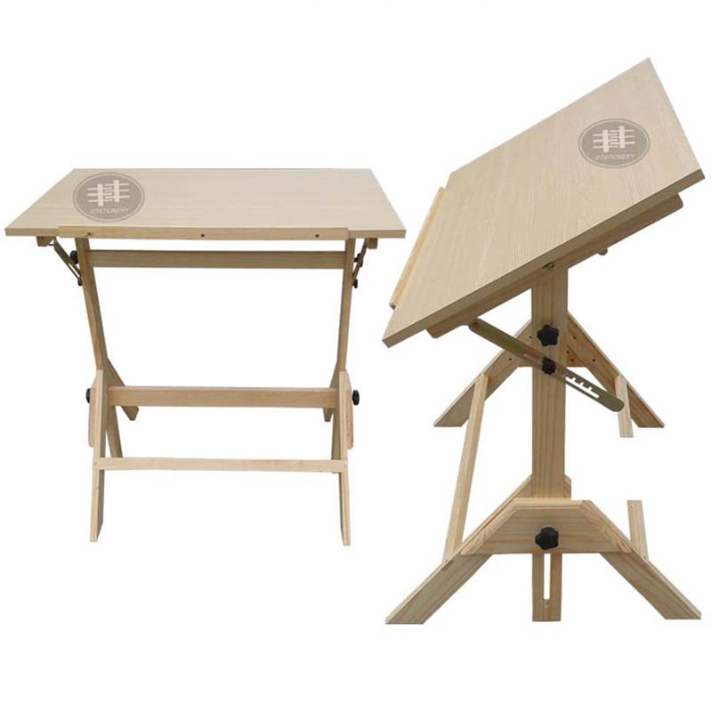 新款学生写生桌实木桌 画板架实画架画板 美术用品