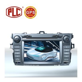 实体安装 贝奥斯plc-雷腾车载gps导航 丰田卡罗拉专车*dvd导