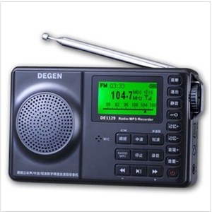 【货到付款赠电源】德劲de1129全波段mp3插卡收音机,优于de1126