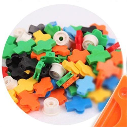 新款七巧匠3d积木儿童益智玩具立体拼插积木动物大联欢62076