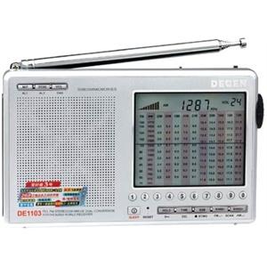 【货到付款赠电源】德劲de1129全波段mp3插卡收音机