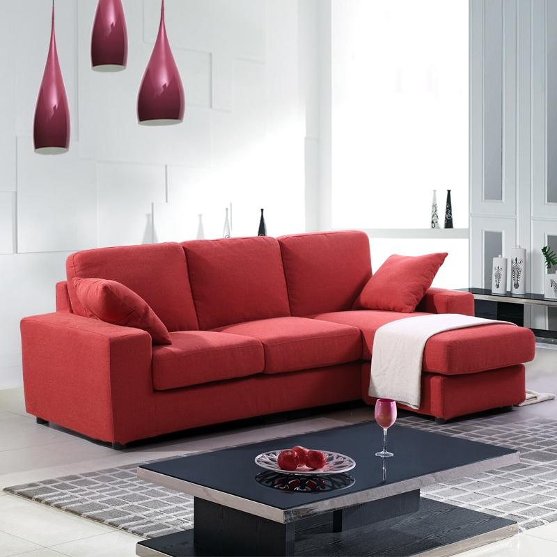 棕红色沙发搭配图片