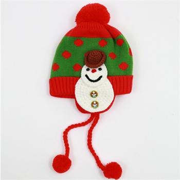 韩国儿童帽 百搭雪人卡通毛线帽 宝宝护耳帽子可爱男女孩子套头 2014