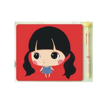bentoy可爱女孩卡通鼠标垫(一个装)
