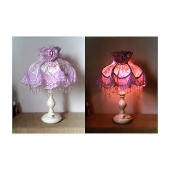 欧式经典工艺台灯 蕾丝灯罩床头灯