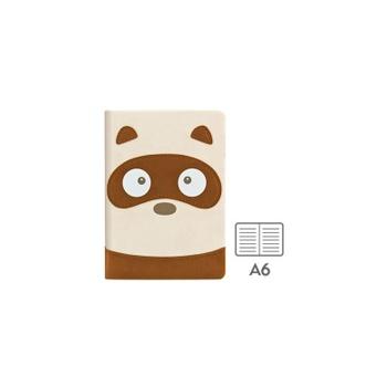 笔记本日记本子 横格 创意笔记本 可爱动物脸_浣熊