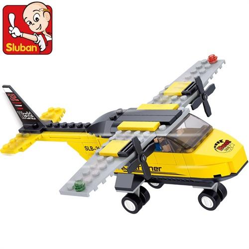 小鲁班乐高式积木飞机 航空天地系列 t-教练机 拼插益智玩具b0360