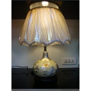 陶瓷台灯 工艺台灯 手绘图案