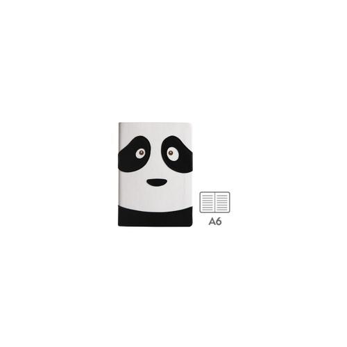 笔记本日记本子 横格 创意笔记本 可爱动物脸_熊猫