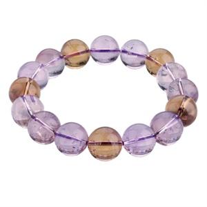 【御灵珠宝】AAA级巴西进口天然紫黄晶手链12mm (±1)