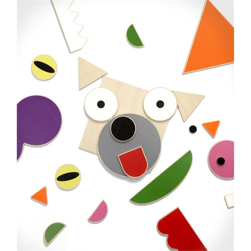 shusha toys俄罗斯精品原木积木animal world动物狂欢节