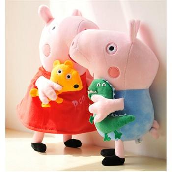 pig 毛绒玩具佩佩猪乔治粉红猪佩琪猪爸爸妈妈一家毛绒粉色猪公仔