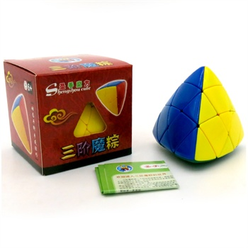 圣手粽子魔方 正品三阶魔粽 四色彩色 益智礼品 异型魔方专业比赛