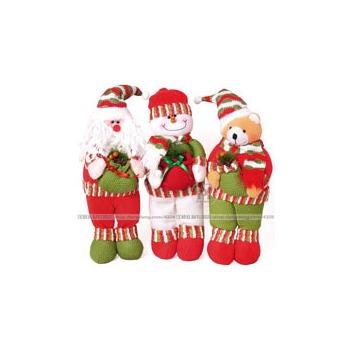 可爱站姿圣诞老人圣诞雪人圣诞驯鹿玩具圣诞礼品圣诞礼物