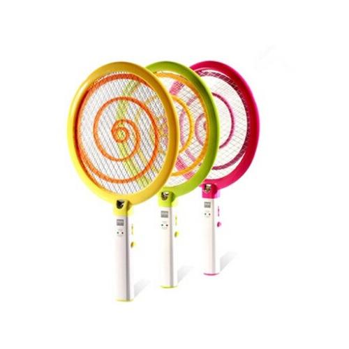 【电蚊拍】家博士超可爱创意棒棒糖造型带灯充电电