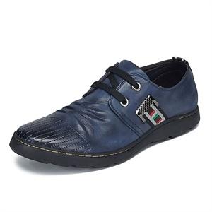 Maigao麦高男士皮鞋 镂空撞色时尚休闲鞋 都市真皮头层皮透气男鞋M0623506-27