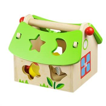 lelin 乐林 木制玩具 儿童益智玩具 花园智慧屋