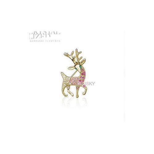 施华洛世奇水晶元素 正义象征七色鹿 胸针