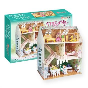 乐立方3d立体拼图纸模型淑女部屋小屋小房子公主房