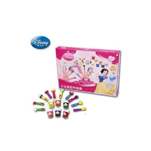 迪士尼公主儿童涂鸦手指画套装 绘画diy创意益智动手玩具