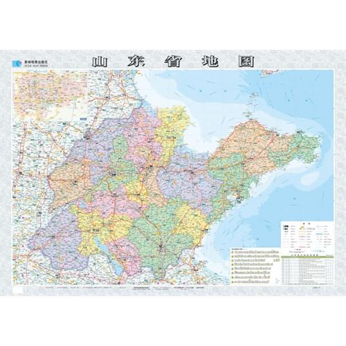 【山东省地图图片】高清图_外观图_细节图-当当网