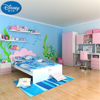 迪士尼儿童房家具 酷漫居公主女孩儿童房卧室套装
