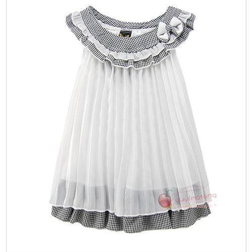 煜婴坊夏季童装 新款雪纺可爱小公主裙 连衣裙hhd1053