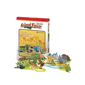 [童童星]乐立方 3d纸模立体拼图 动物森林71片
