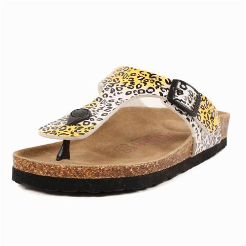 时尚豹纹2012女士新款人字拖软木拖凉拖鞋