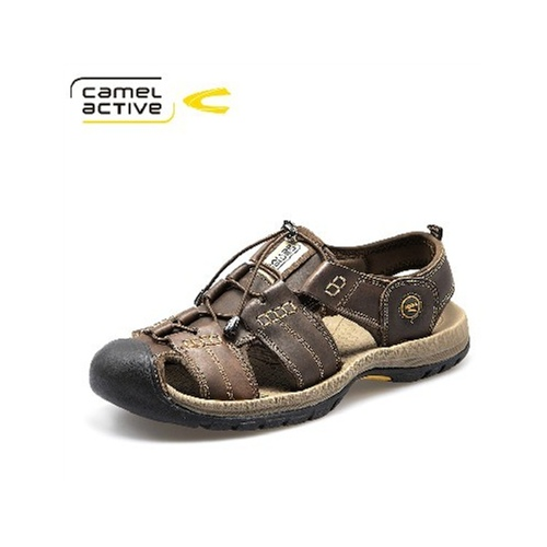 骆驼动感CamelActive 正品 夏季男士凉鞋真皮户外沙滩鞋休闲男鞋