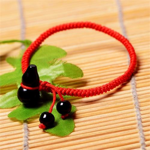 诗蔓 精选葫芦绳编手链--粉水晶 设计新颖 清新可爱 唯美 浪漫