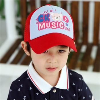 2014年夏季韩国新款 韩版儿童网眼棒球帽gk music小熊男女小孩子夏季