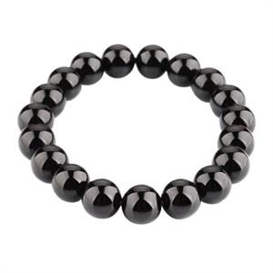 【御灵珠宝】超强能量 纯天然巴西黑碧玺手链10mm(±1)